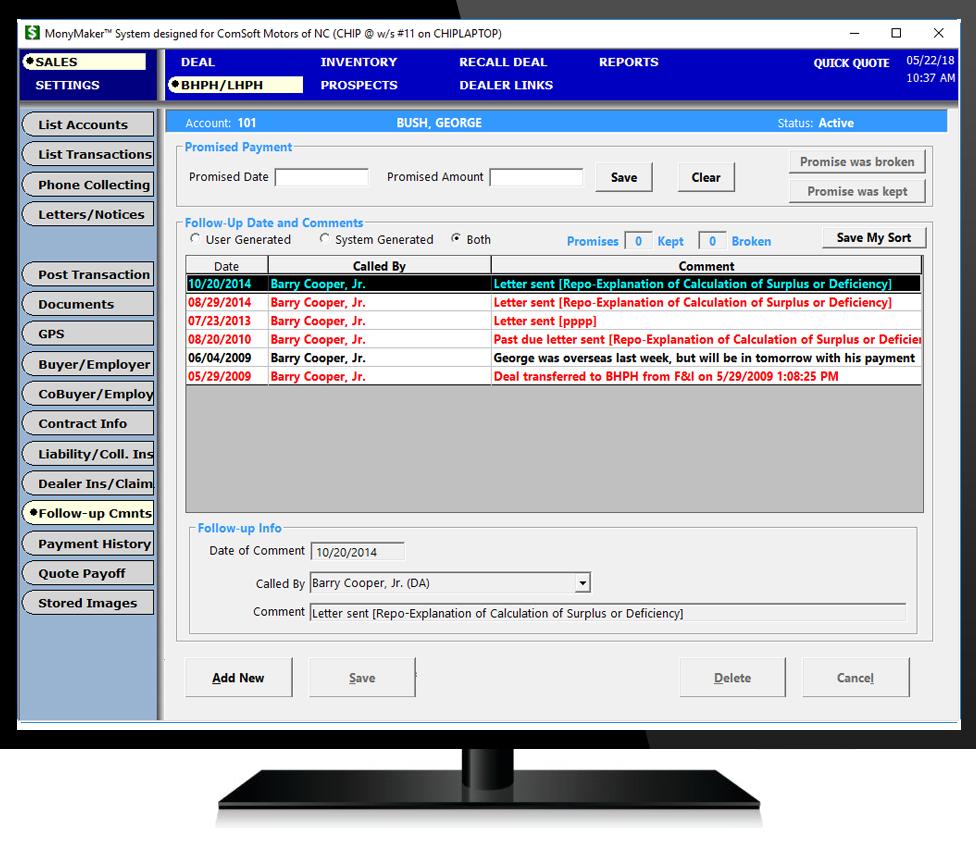 Buy Here Pay Here Raleigh Nc >> Buy Here Pay Here Tracking | ComSoft Dealer Management ...